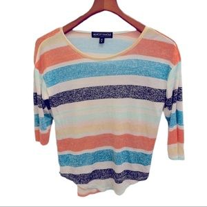 Almost famous knit striped top size S
